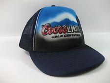 Coors Light Cold Certified Beer Hat Blue Black Snapback Trucker Cap