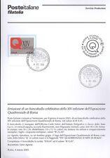 ITALIA 2005 ESPOSIZIONE ROMA  BOLLETTINO COMPLETO DI FRANCOBOLLI ANNULLO FDC