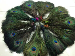 100-200pcs Natural peacock feather eyes 10 colors 10-12inch/25-30cm Diy carnival