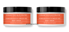 Lot of 2 Nib Crabtree & Evelyn Pomegranate & Argan Oil Nourishing Body Cream