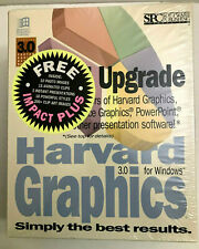VINTAGE Harvard Graphics 3.0 Special Upgrade Software For Windows NEW in Wrapper