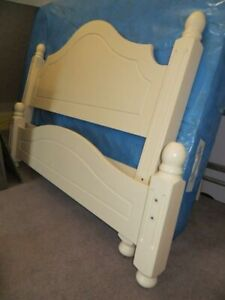 Solid pine double bed paniers