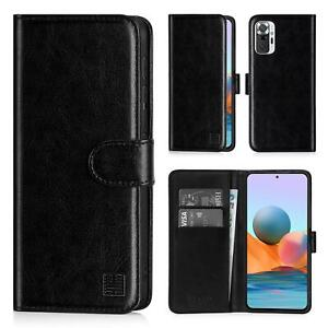 PU Leather Book Wallet Case Cover For Xiaomi Redmi Note 10 Pro