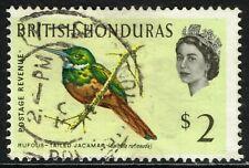 SG 212 BRITISH HONDURAS 1962 - $2 MULTICOLOURED - USED