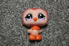 Orange Owl #1147 LPS Animal Toy Bird Purple Eyes Girls 2007 Littlest Pet Shop