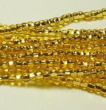 Silver Lined Gold Czech 11/0 Glass Seed Beads 1 (6 String Hank) Preciosa