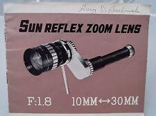 Sun Reflex Zoom Lens f/1.8 10mm-30mm instruction manual