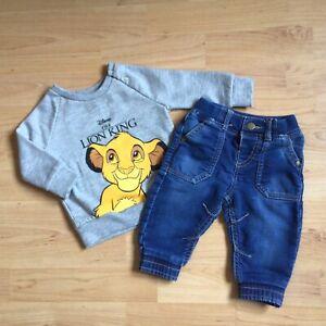 Baby Boy 3-6 Months Clothes Lion King Simba Disney Sweatshirt Top FF Jeans