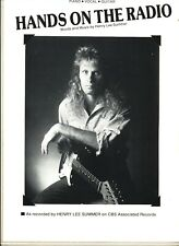 Henry Lee Summer Hands On The Radio Sheet Music Piano/Vocal/Guitar 1988 W/Chords