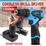 Pro 12V Rechargeable Li-on Lithium Cordless Electric Drill Driver Screwdriver