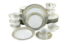 Gold String Of Hearts 40-Piece Dinnerware Set Serving Set For 8