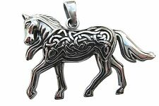 Sterling Silver  (925)  Celtic  Patterned  Horse  Pendant    !!       New  !!