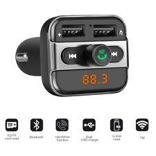 Bluetooth Car Kit Wireless FM Transmitter Dual USB Charger Audio MP3 Player MIC