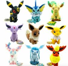 Set of 9 Evolution of Eevee Sylveon Umbreon Leafe Plush doll Toy Gift