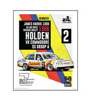 "HOLDEN COMMODORE VK POSTER - GRICE BAILEY 1986 BATHURST - 50 x 40 cm 20"" x 16"""