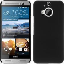 Coque Rigide HTC One M9 Plus - gommée noir + films de protection