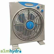 RAM 12 Inch 300mm 3 Speed Oscillating Eco Box Fan Hydroponics