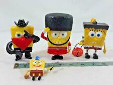 Lot of 4 PCS SpongeBob Squarepants PVC Figure Toys ~ Ships FREE