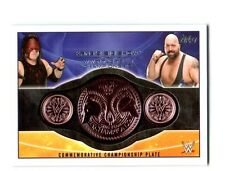 WWE Kane & Big Show 2015 Topps Tag Team Commemorative Belt Plate Relic Card