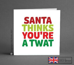 RUDE CHRISTMAS CARDS funny cheeky tw*t c*ck d*ck best friend brother sister K21c