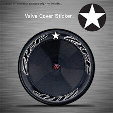 VCS008 - 6x Star Roundel Disc Wheel Valve Covers/Patches - Zipp Hed Corima FFWD
