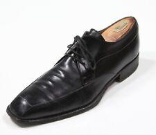 Gravati Black Apron Lace-Up Leather Dress Shoes Men's US 9