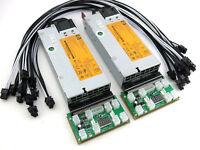 Antminer L3 L3+ L3++ Power Supply HP 1500 Watt 2x750 110-240V ASIC Miner PSU 92%