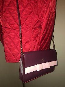 NWT Kate Spade New York Kirk Park Saffiano Veronique Crossbody Shoulder Bag Bow