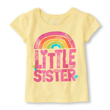 "NEW! ""Little Sister"" Baby Girls Shirt 3T Gift Nice SS Announcement Sparkle Smart"