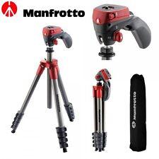 Trípode Manfrotto Compact Action - Rojo | Bargain Fotos