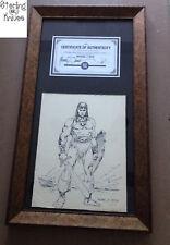 "Vintage 1970's Era Micheal J. Zeck ""Conan"" Convention Sketch With COA Framed"