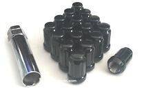 24 BLACK 6 SPLINE LUG NUTS + KEY | 12X1.5 | FITS TOYOTA FJ TACOMA TUNDRA 4RUNNER