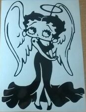 LARGE 2FOOT Betty Boop sexy angel girls vinyl car bonnet sticker wall art decal
