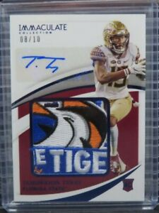 2021 Immaculate Collegiate Tamorrion Terry Bowl Logo Patch RC Auto #08/10 Z101