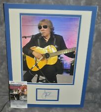"Jose Feliciano Autographed Index Card Matted 12"" x 16"" w/ HP Photo JSA COA"