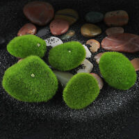 5X Green Aquarium Fish Tank Artificial Plastic Plant Grass Moss Ornament Decor