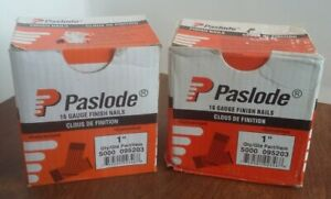"""2 Boxes PASLODE 1"""" 16 Gauge Straight Finish Nails  = Qty 10,000 095203"""