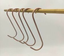 100 POWDER COATING S-HOOKS FOR THE HOME USER - 100 x 3mm Thick Copper Coated