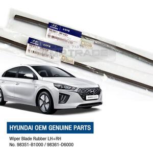 OEM Genuine Parts Windshield LH+RH Wiper Blade Rubber for HYUNDAI 2016-19 Ioniq