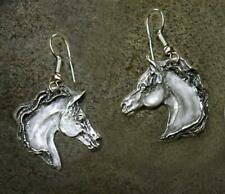 - Perfect Equestrian Gift- Usa made Arabian Horse Artisan Made Pewter Earrings