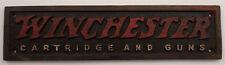 Winchester Cartridge An Guns Cast Iron Metal Wall Plaque Sign