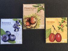 Kroatien Croatia 2018 Nr. 1308-10 Einheimische Flora Kornelkirsche Edelkastanie