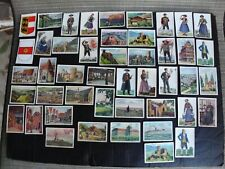 46 Cigarette Cards Germans Abroad In Other European Foreign Countries 1933 Rare!