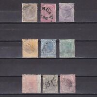 MALAYA STRAITS SETTLEMENTS 1867, SG# 11-19, CV £225, Used