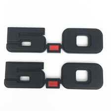 Pair- Black Red 5.0 Exterior Fender Trunk Emblems Fit Ford Mustang
