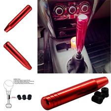Universal Aluminum Alloy Manual Auto Car Gear Stick Shift Knob Shifter 18cm Red