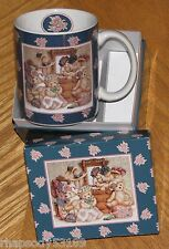 Hats for Teddy Nita Showers Artwork bears 1996 LANG & Wise Mug New in Gift Box