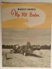 Vintage Massey Harris No. 701 Baler brochure dealer advertising equipment sales