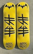 "Lot of 2 : Graphic blanks skateboard deck 8.375"" great deal quality HESH Yellow"