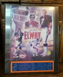 """John Elway Champions Collection Wall Plaque 10.5"""" x 12.5"""" Limited Edition"""